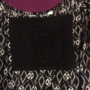 Charming Charlie Dresses - Black patterned summer dress